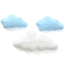 3 Piece Clouds Sky Papier-Mache Wall Décor Set