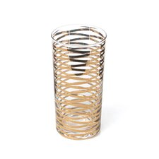 GOLD RIBBONS DRINKING GLASS-TALL