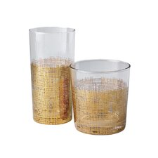 Crosshatch Drinking Glass