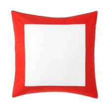 Modern Border Vermillion Euro Sham (Set of 2)