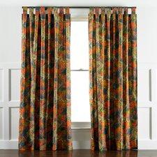Ming Dragon Persimmon Curtain Panels