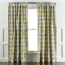 Aviary Trellis Graphite Curtain Panels