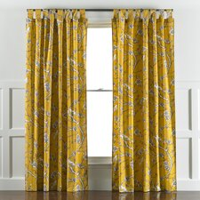 Vintage Blossom Citrine Curtain Panels