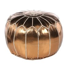 Metallic Bronze Pouf