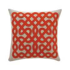 Labyrinth Linen Persimmon Pillow