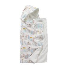 Skyline Hooded Towel in Light Blue