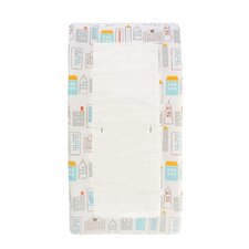 <strong>DwellStudio</strong> Skyline Changing Pad Cover in Light Blue