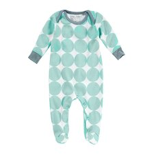 Dots Eggshell Boy's Footie Playsuit