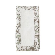 Woodland Tumble Changing Pad Cover in Mocha