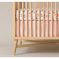 Solid Pink Crib Skirt