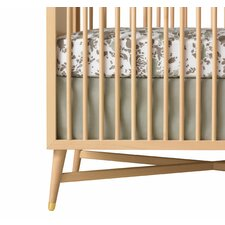 <strong>DwellStudio</strong> Solid Crib Skirt in Moss
