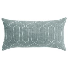 Dotted Trellis Pillow in Azure