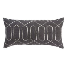 <strong>DwellStudio</strong> Dotted Trellis Pillow in Charcoal