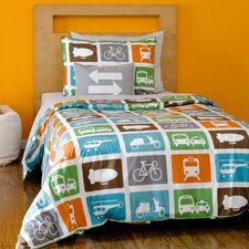 <strong>DwellStudio</strong> Transportation Duvet Set