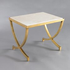 Haviland Modern Side Table Antique Gold