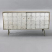 Franklin Media Cabinet in Silver Leaf