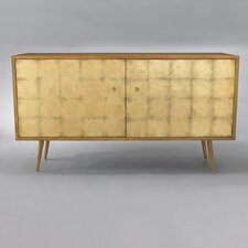 Franklin Media Cabinet in Gold Leaf