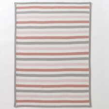 Multi-Stripe Blossom Knit Blanket