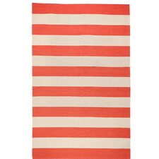 Draper Stripe Brick Red Rug