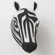 Zebra Natural Papier-Mache Head