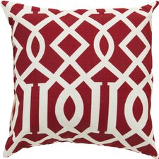 Trellis Venetian Red Outdoor Pillow Cover