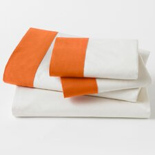 Modern Border Tangerine Sheet Set