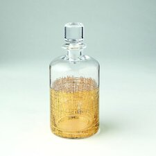 Crosshatch Cylinder Decanter in Gold