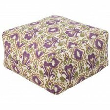 Ikat Grape Outdoor Pouf
