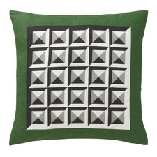 Deco Border Kelly Green Pillow