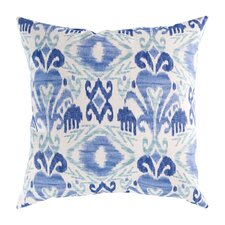 Ikat Blue Outdoor Pillow