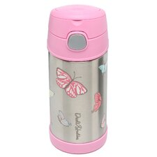 Butterfly 12 oz Funtainer Straw Bottle