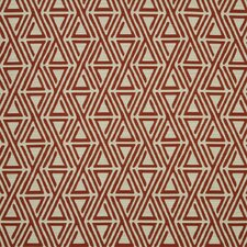 Triangle Maze Fabric - Currant