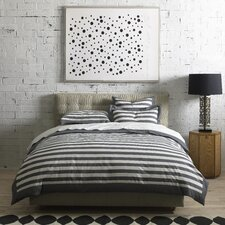 Graphic Stripe Ink Duvet Set