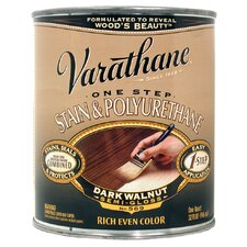 1 Quart Dark Walnut 1 Step Stain Wood