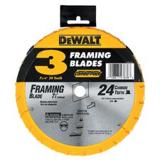 "7.13"" 24 TPI Single Precision Framing Saw Blade (Set of 3)"