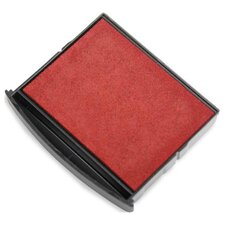 "Replacement Pad,for Self-inking Stamps/Daters, 1-3/4""x1-7/8"", Red"