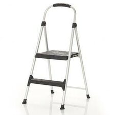 Signature Two-Step Aluminum Step Stool with Plastic Step