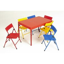 <strong>Cosco Home and Office</strong> Kids 7 Piece Rectangular Table and Chair Set