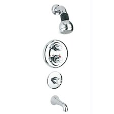 Dual Control Tub and Shower Faucet