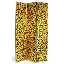 "78"" x 48"" Cheetah Print 3 Panel Room Divider"