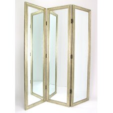 "72"" x 60"" Full Size Dressing 3 Panel Room Divider"