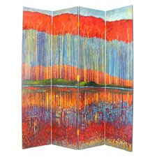 "<strong>Wayborn</strong> 72"" x 64"" Fall in the Forest 4 Panel Room Divider"