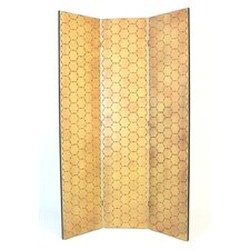 "72"" x 48"" Honeycomb 3 Panel Room Divider"