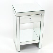 Beveled Mirror 1 Drawer Chest