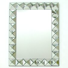 "28"" H x 35"" W Beveled 3D Square Mirror"