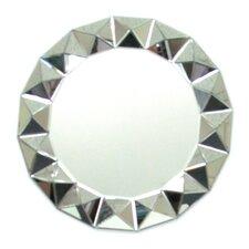 """32"""" H x 32"""" W Beveled 3D Round Mirror"""