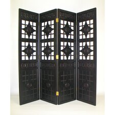"76"" x 80"" Gothic Diamond 4 Panel Room Divider"