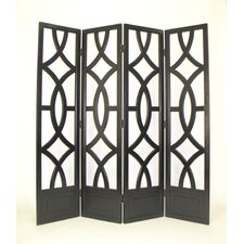 "72"" Large Looped 4 Panel Room Divider"