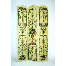 "72"" x 48"" Intricate Floral 3 Panel Room Divider"