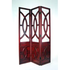 Overlapping Circles Room Divider in Chestnut
